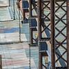 Bridge maintenance  with scaffolding  on site