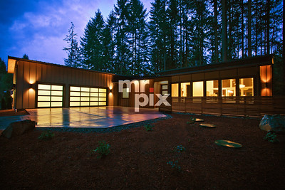 Architectural image of High Tech Industrial house. Photo by ©2015 Michael Moore - MrPix.com