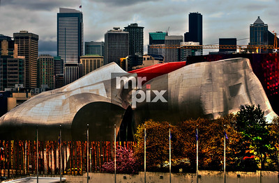 The EMP - Experience Music Project Museum, in Seattle.  Architectural Photography by Michael Moore MrPix.com