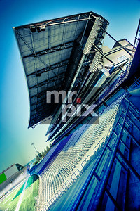 Husky Stadium (The Dawghouse) Award Winning image. Architectural Photography by Michael Moore
