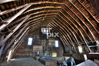 Interior of an Old Dairy Barn. Photo by: © michael moore - MrPix.com