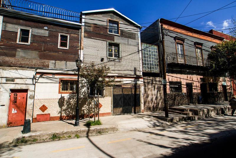 BUENOS AIRES. LA BOCA. THE LESS COLOURFUL STREETS OF LA BOCA.