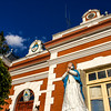 PARANA. ENTRE RIOS. MARIA STATUE IN FRONT OF A HOUSE. ARGENTINA.
