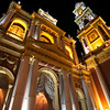 IGLESIA SAN FRANCISCO BY NIGHT. SALTA CAPITAL. SALTA.
