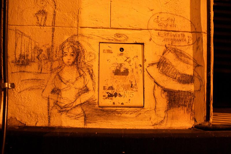 BUENOS AIRES. SAN TELMO. GRAFFITI .