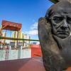 BUENOS AIRES. LA BOCA. MUSEO DE LAS BELLAS ARTES DE LA BOCA. STATUE MADE BY QUINQUELA MARTIN.