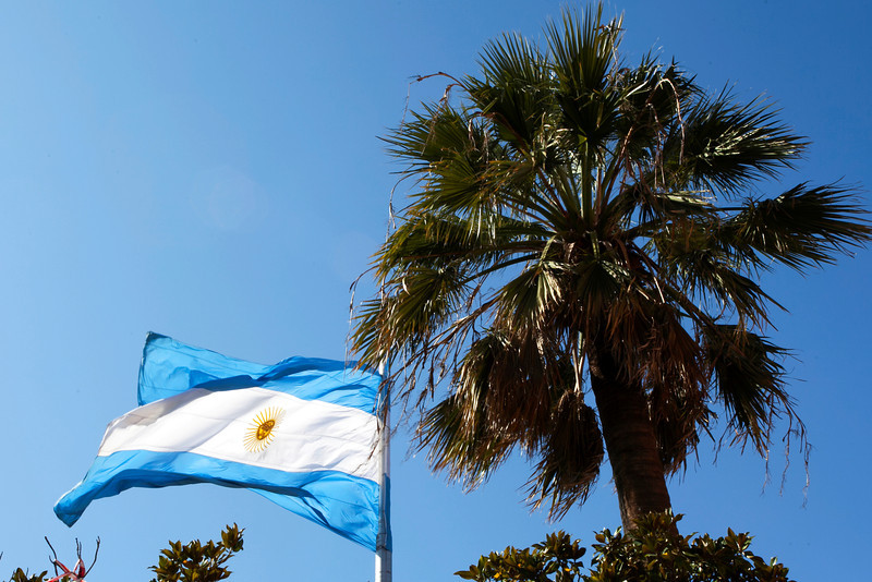 BUENOS AIRES CAPITAL. ARGENTINIAN FLAG. BUENOS AIRES.