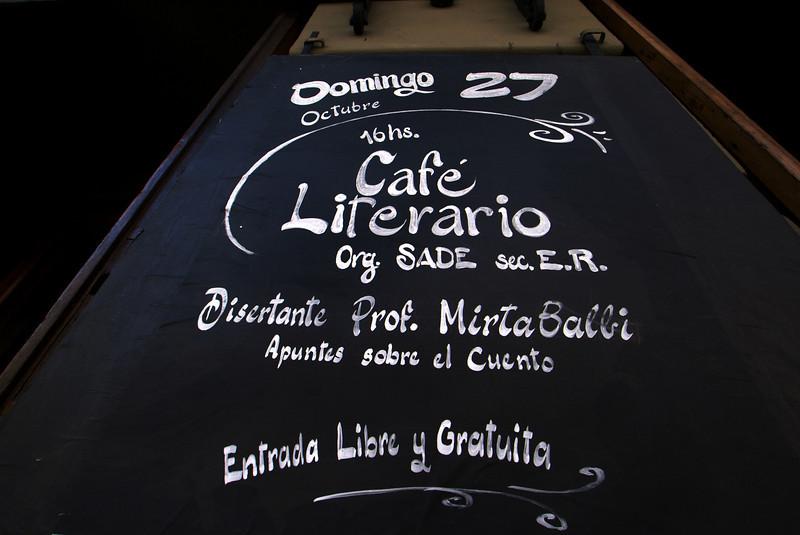 PARANA. ENTRE RIOS. CAFE LITERARIO. THEATRE.