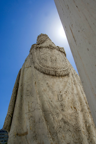 PARANA. CATHEDRAL OF PARANA. BACKSIDE OF THE STATUE. ENTRE RIOS.