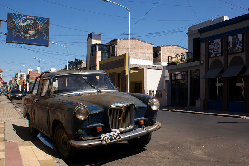 OLD CAR IN DOWN TOWN PARANA. ENTRE RIOS. ARGENTINA.