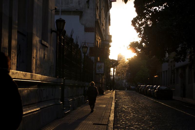 BUENOS AIRES. SAN TELMO. SUNSET.