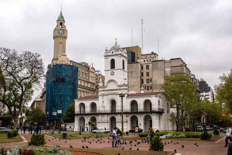 BUENOS AIRES. PLAZA DE MAYO. COLONIAL BUILDING.