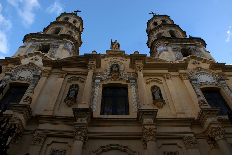 BUENOS AIRES. SAN TELMO. FACADE OF THE CHURH.