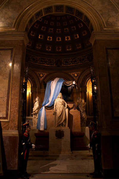 BUENOS AIRES. CATHEDRAL. TOMB OF SAN MARTIN.