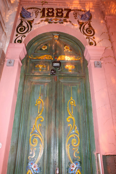 BUENOS AIRES. SAN TELMO. OLD PAINTED DOOR (1887).