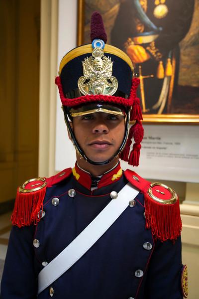 BUENOS AIRES CAPITAL. CASA ROSADA. GUARD IN PRESIDENTIAL PALACE. [CASA DE GOBIERNO] BUENOS AIRES.