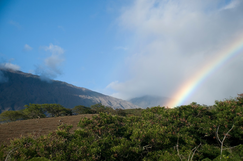 Rainbow at Kaupo Gap