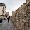 Old city wall in Baku, Azerbeijan
