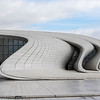Facade of the Heydar Aliyev Center (Zaha Hadid Architects) in Baku, Azerbeijan