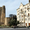 Exterior of the Maidan's Tower (Qiz Qalasi), an Unesco World Heritage Site in Baku, Azerbeijan