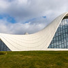 Facade of the Heydar Aliyev Center (Zaha Hadid Architects) in Baku, Azerbeijan