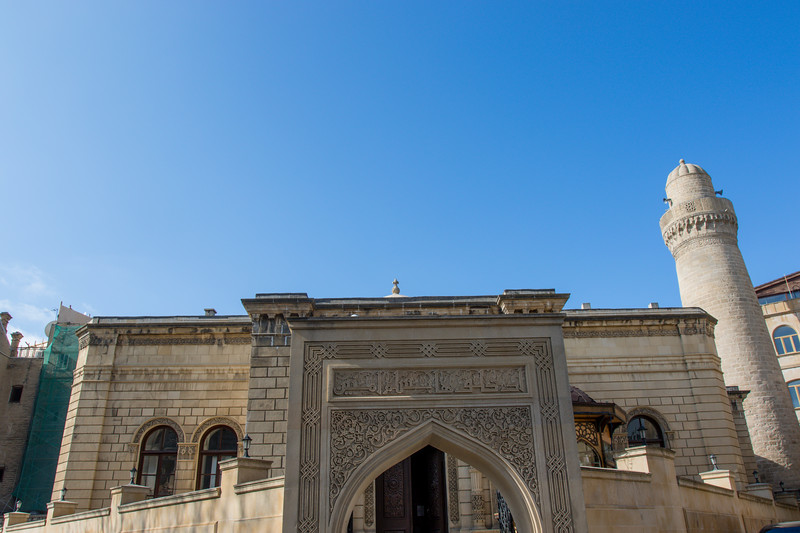 Facade of the Juma Mosque (Friday Mosque) in the old city of Baku, Azerbeijan