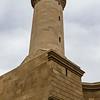 Facade of the Beyler mosque and minaret in the old city of Baku, Azerbeijan (Unesco World Heritage Site)