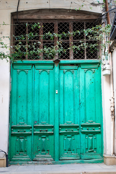 Old door of a house inside the old city of Baku, Azerbeijan (Unesco World Heritage Site)