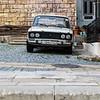 Vintage Lada in the old city of Baku, Azerbeijan