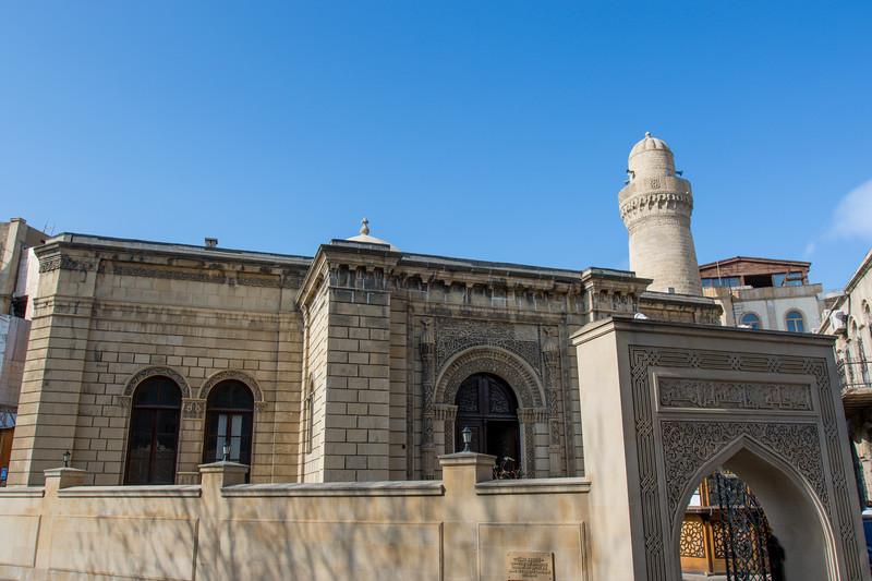 Facade of the Juma Mosque (Friday Mosque) in the old city of Baku, Azerbeijan