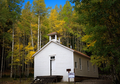 Old Schoolhouse in Fall Colors