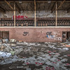 This gym, once a room for entertainment, company events, exercise and fun, now houses remnants of the past.<br /> <br /> © John Schiller Photography