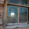 Log cabin window.