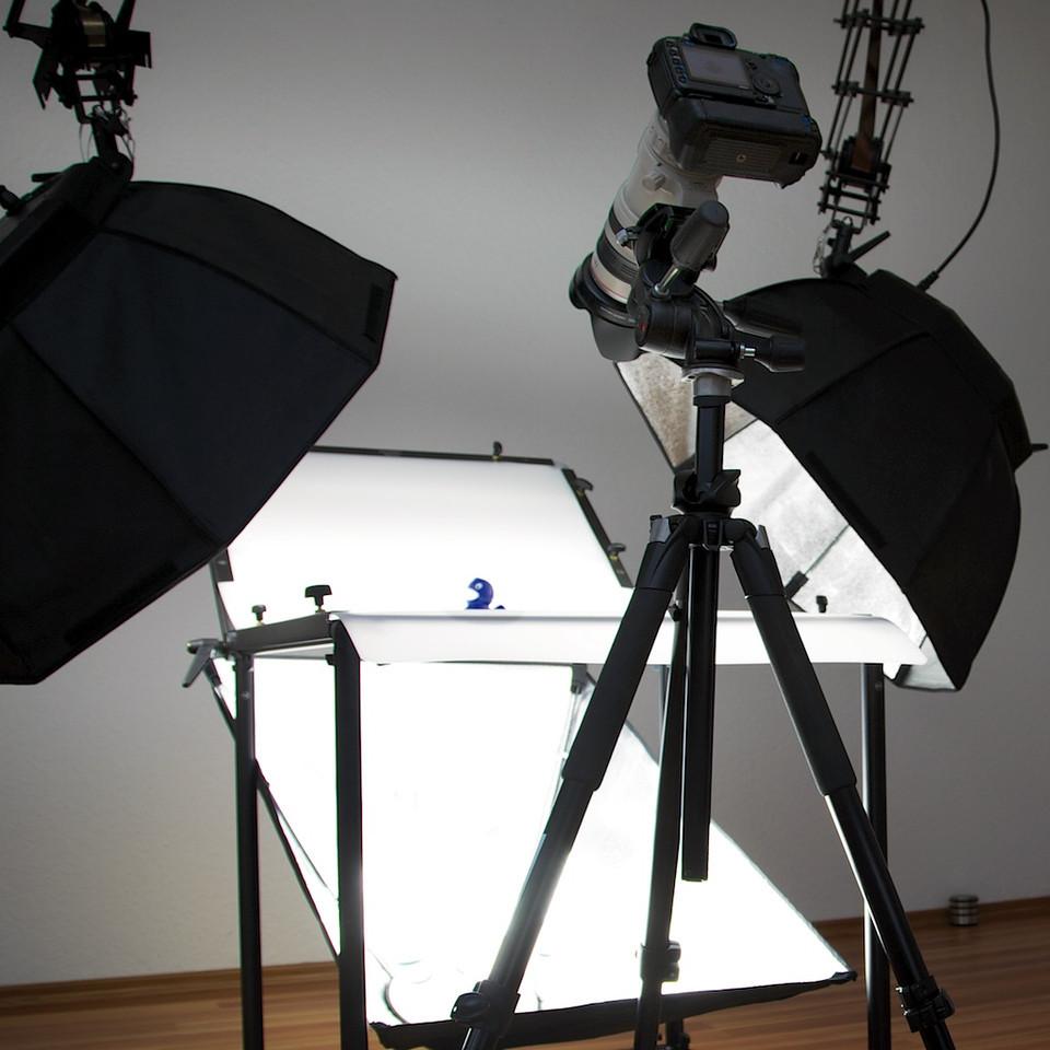 Produktfotografie am Lichttisch
