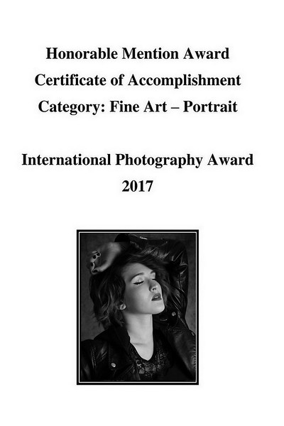 International Photography Award Honorable Mention - NY 2017