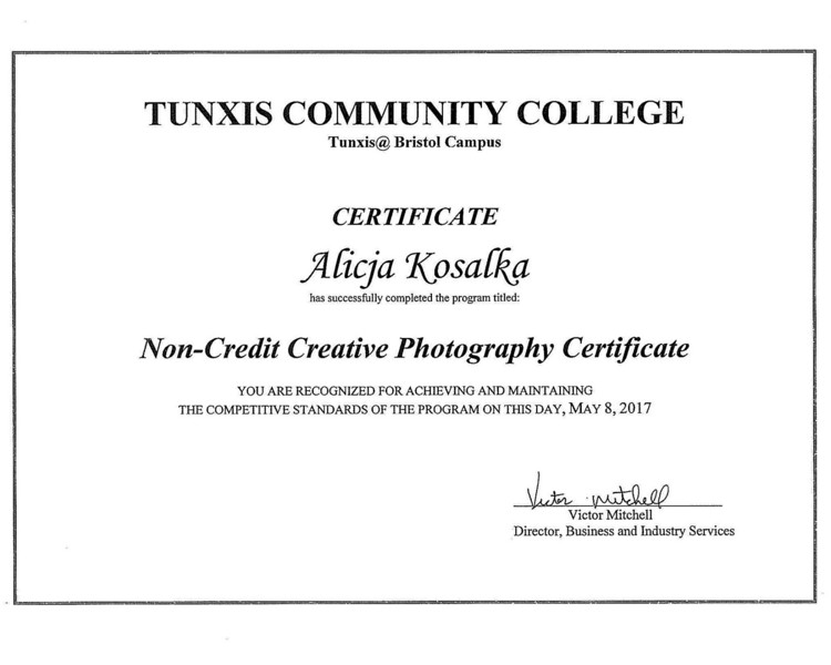 Creative Photography Certificate 2017
