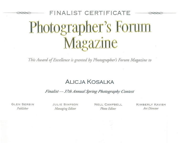 Finalist Photographer's Forum Magazine Contest 2017