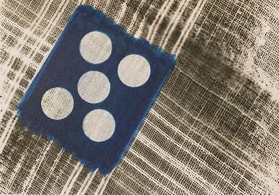 5x7 silver gelatin print, with cyanotype