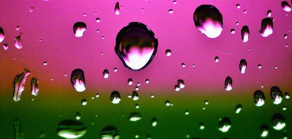 Rain drops on a car window...picture taken in Maui, Hawaii