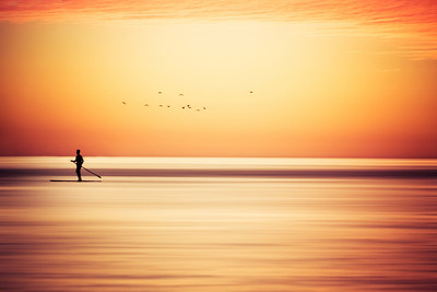 Paddle Board Sunset