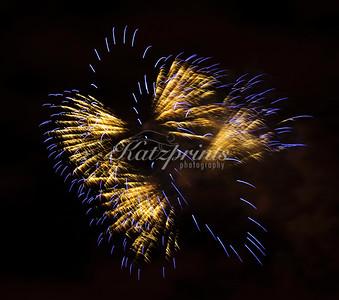 Fireworks Yellow-Blue