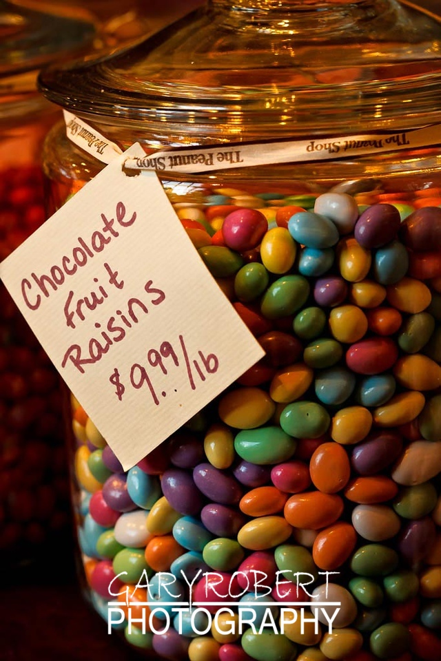 Jar of Candy Raisins