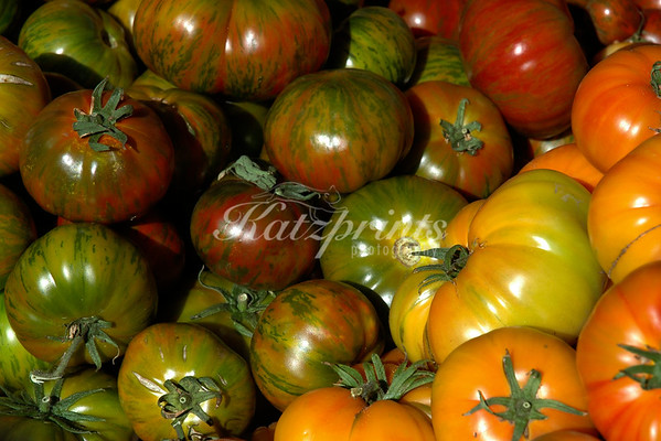 Heirloom tomatoes at local Farmer's market