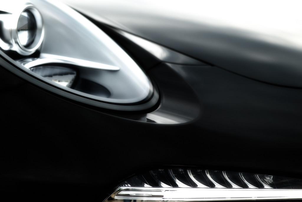 Photo of a Porsche Headlight.
