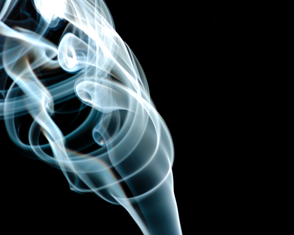 Its smoky in here !<br /> Picture of smoke from incense sticks.