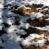 Snowy rock shadows