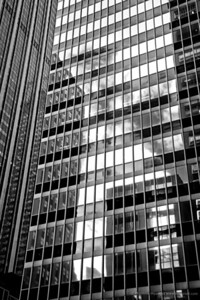 A city in reflections upon reflections