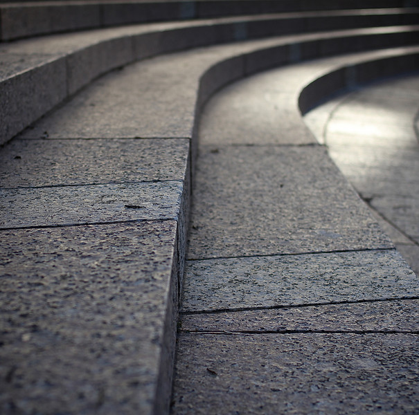 Curved Granite Steps Abstract - Austin, Texas