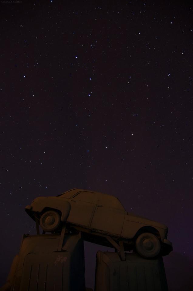 Nighttime at Carhenge