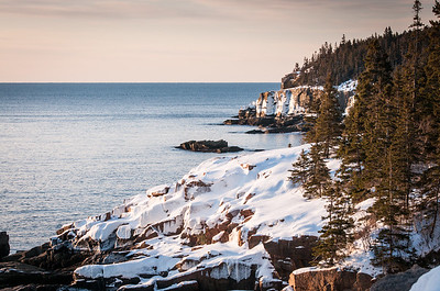 Otter Cliff in Winter